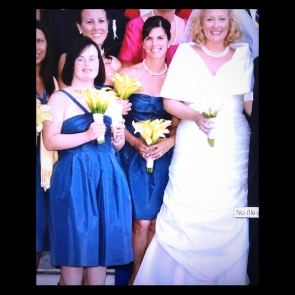 Dresses & Skirts - White silk sweetheart wedding dress with wrap...
